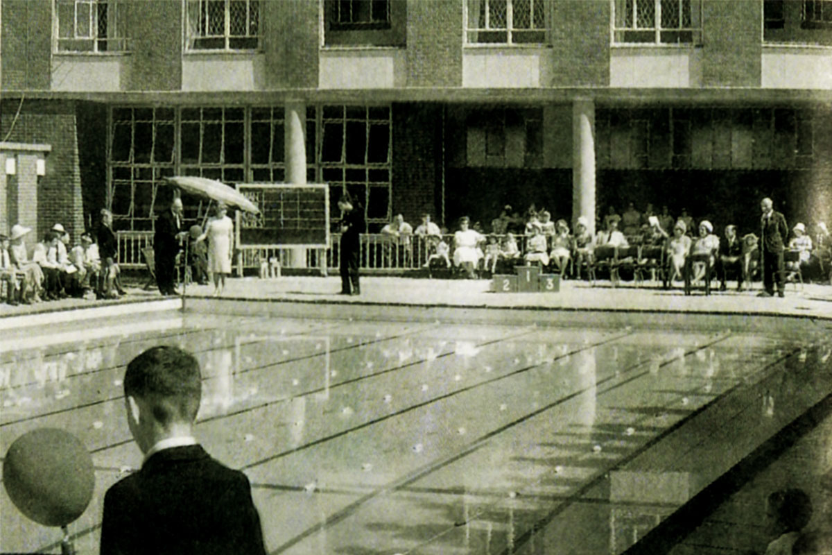 The pool was officially opened in March of 1966