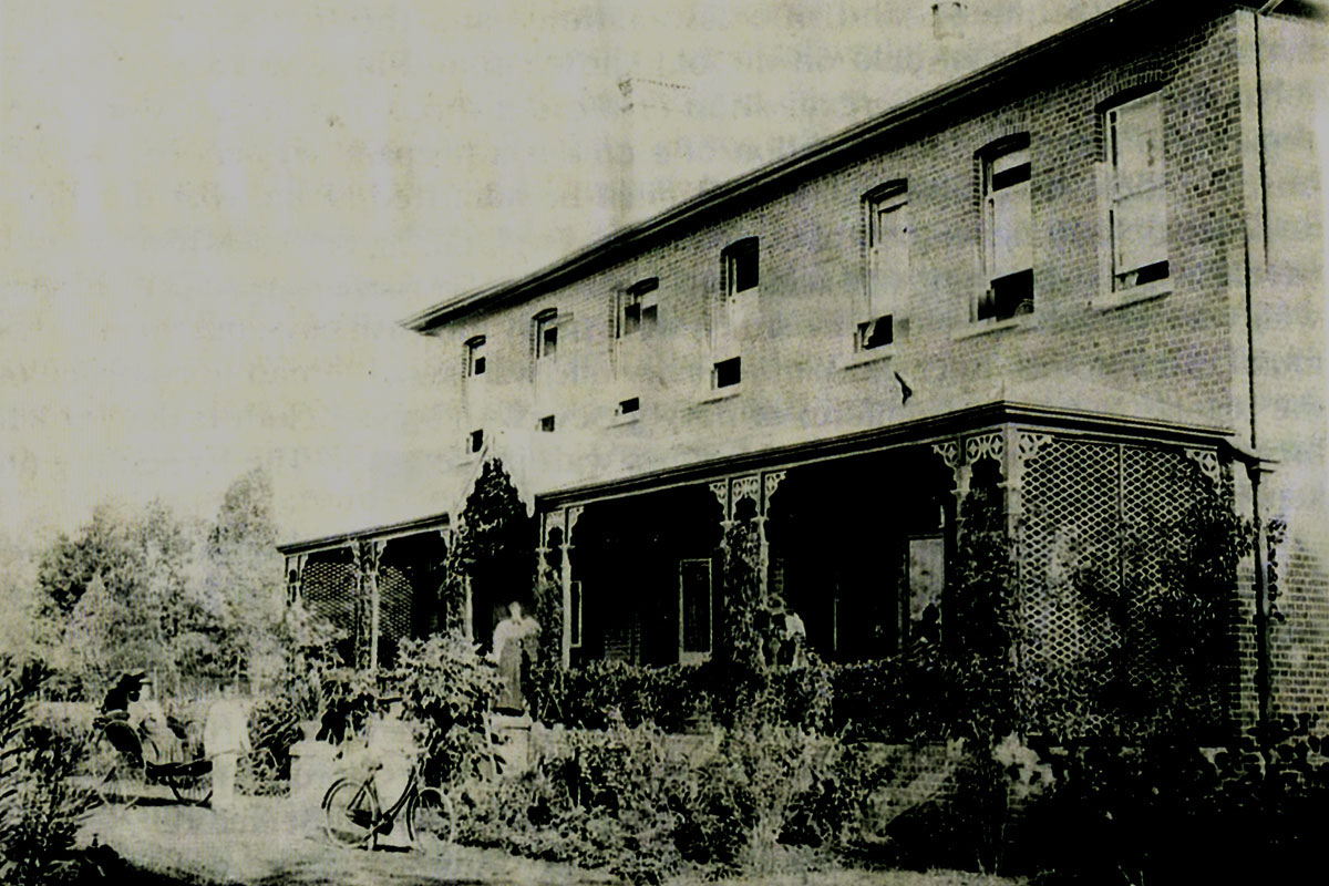 The front of the first Boarding Establishment – 1904