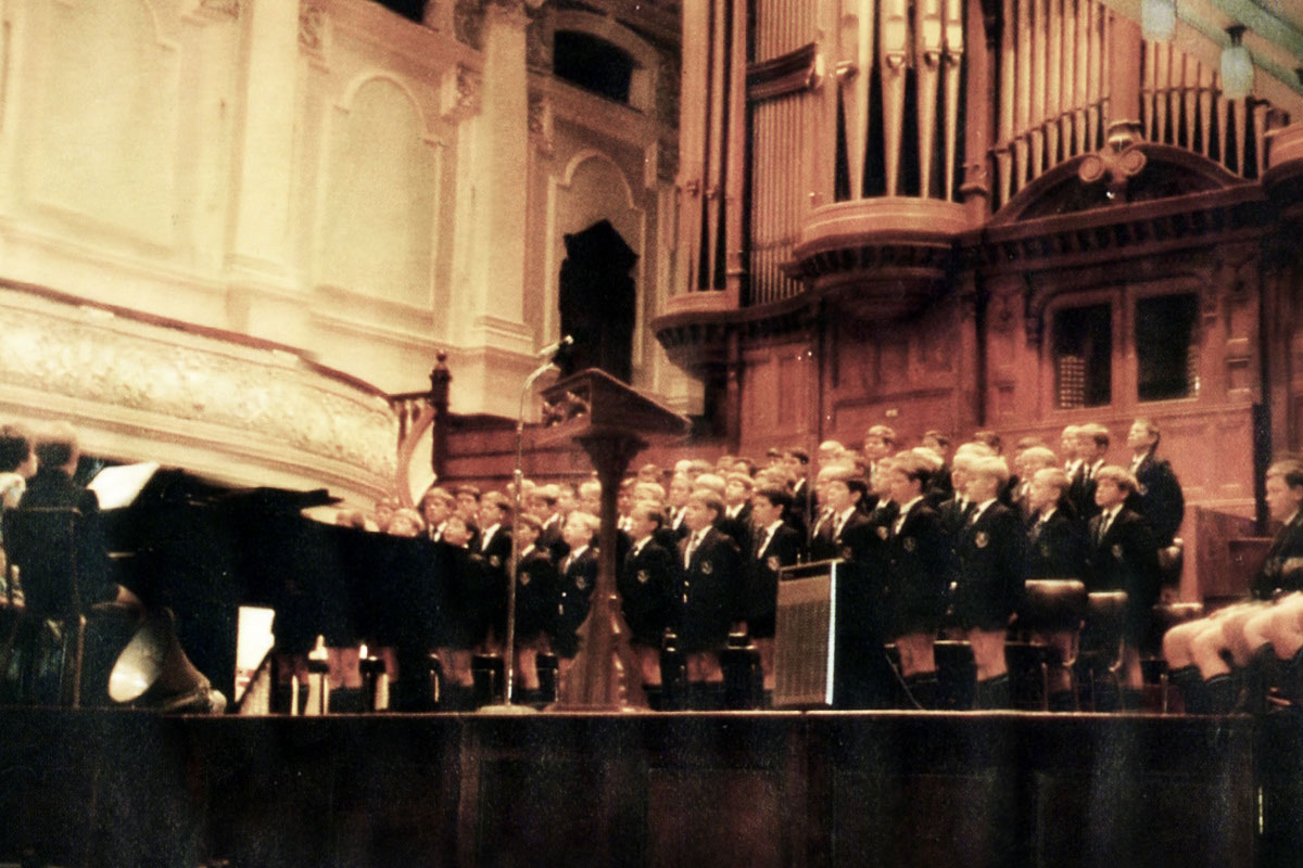 The Choir performing at a Prize Giving hosted in the City Hall