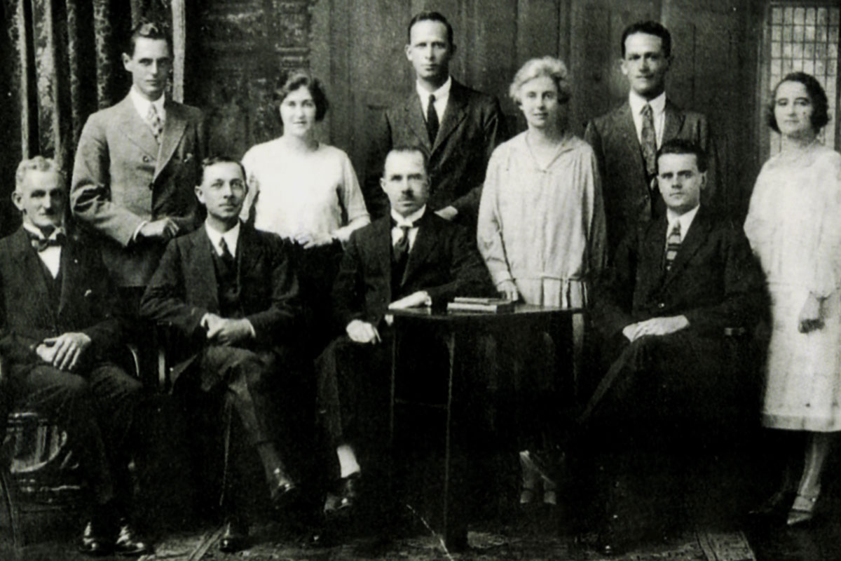 The staff with Mr Reginald Banks at the helm – 1924